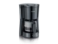Severin KA 4815, Kaffebrygger (drypp), 1,25 l, Malt kaffe, 1000 W, Svart