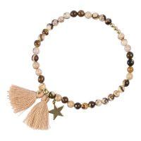 Stone Bead Bracelet 4 MM
