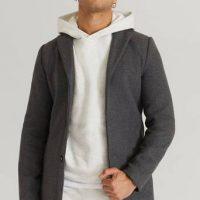 Studio Total Frakk Slim Coat Grå