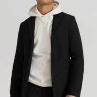 Studio Total Frakk Slim Coat Svart