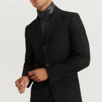 Studio Total Rock Slim Collar Coat Svart