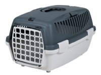 TRIXIE Capri 1, Hardt transportbur, Handbag pet carrier, Small animal, 6 kg, Grå, Monoton