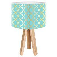 Tatyana bordlampe med geometrisk motiv