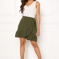 VERO MODA Cita Bobble Wrap Skirt Ivy Green L
