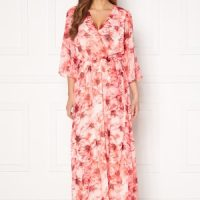 VILA Alivia 3/4 Ankle Dress Mars Red AOP Flower 38