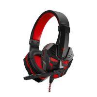 AULA Prime Basic Gaming-Headset, Röd/Svart