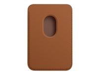 Apple Wallet with MagSafe - Lomme for mobiltelefon / kredittkort - lær - salbrun - for iPhone 12, 12 mini, 12 Pro, 12 Pro Max