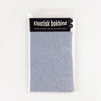 Bokbind tekstil glitter blå