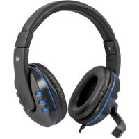 Defender WARHEAD G-160 Gaming black and blue headphones with a microphone