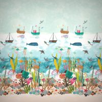 Harlequin Tapet, Marine Life