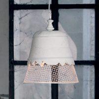 Karman Domenica - gips-hengelampe, hvit, 35 cm