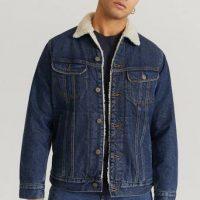 Lee Jeansjakke Sherpa Jacket Blå