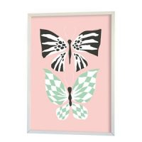 Littlephant Poster, Butterfly Love, Pink One Size