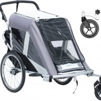 North 13.5 Roadster+ Med Stroller Wheel og Regntrekk, Grå