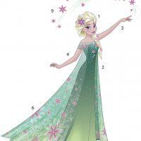 RoomMates Wallsticker Disney Frozen Fever Elsa