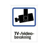 TV-overvåkningsskilt - 10-pakk