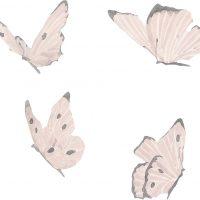 That's Mine Wallsticker Butterflies, White