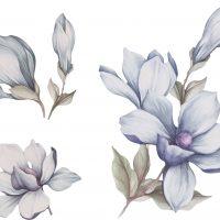 That's Mine Wallsticker Mangolia Flower, Blue