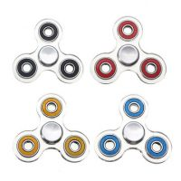 Transparent Fidget Hand Spinner Tri-Spinner Plastic Custom Bearing Toys For Autism And ADHD Kids