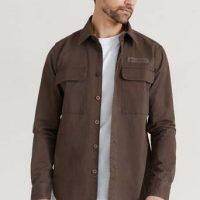 Woodbird Overshirt Hoxen Work Shirt Brun