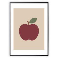 XO Posters Apple 30 x 40 Plakat One Size