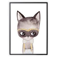 XO Posters Poster Cat With Mask 50x70 cm