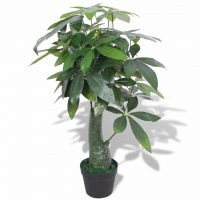 vidaXL Kunstig pachira med potte 85 cm grønn