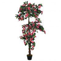vidaXL Kunstig rododendron med potte rosa 165 cm