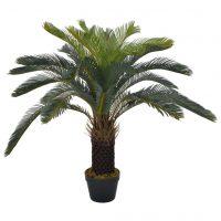 vidaXL Kunstig sagopalme med potte grønn 90 cm