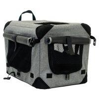 70cm L grått canvas hundebur