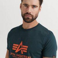 Alpha Industries T-Shirt Basic T-shirt Grønn