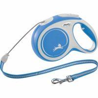 Blå Flexi New Comfort hundebånd (Snor 0-20kg)