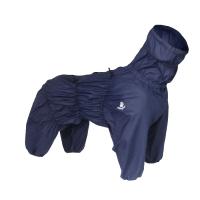 Blå regndress til hund, mange str