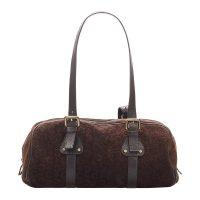 C Macadam Suede Shoulder Bag