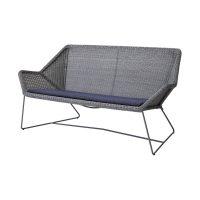 Cane-line Breeze 2 seter lounge sofa Lys Grå-Breeze - Selected PP, Blue