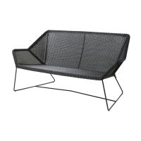 Cane-line Breeze 2 seter lounge sofa Sort-Breeze - Ingen pute
