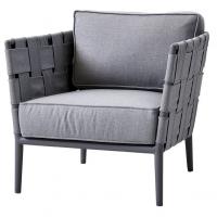 Cane-line Conic lounge stol lys grå