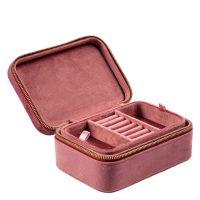 DARK Velvet Jewellery Box Dusty Rose