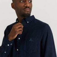 Gant Skjorte D2. Reg UT Gmnt Dyed Linen BD Blå