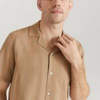 Legends Kortermet skjorte Clark Shirt Brun
