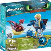 Playmobil 70041 Astrid with flight suit and Hobgobbler