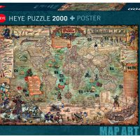 Puslespill 2000 Pirate World Heye