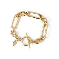 Rectangular Link T-Bar Bracelet