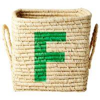 Rice Raffia Firkantet Kurv – F one size