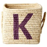 Rice Raffia Firkantet Kurv – K one size