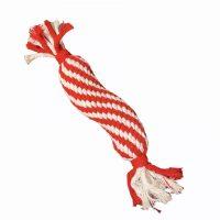 Rød/hvit tauleke med squeak
