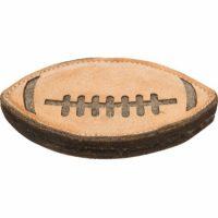 Solid rugby hundeleke i skinn - 20cm