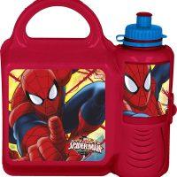 Spiderman Matboks & Sportsflaske, Rød
