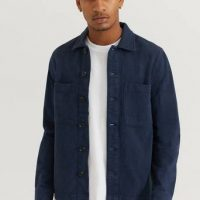 Studio Total Overshirt Twill With Pockets Blå