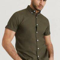 Studio Total Skjorte Melker Short Sleeve Shirt Grønn